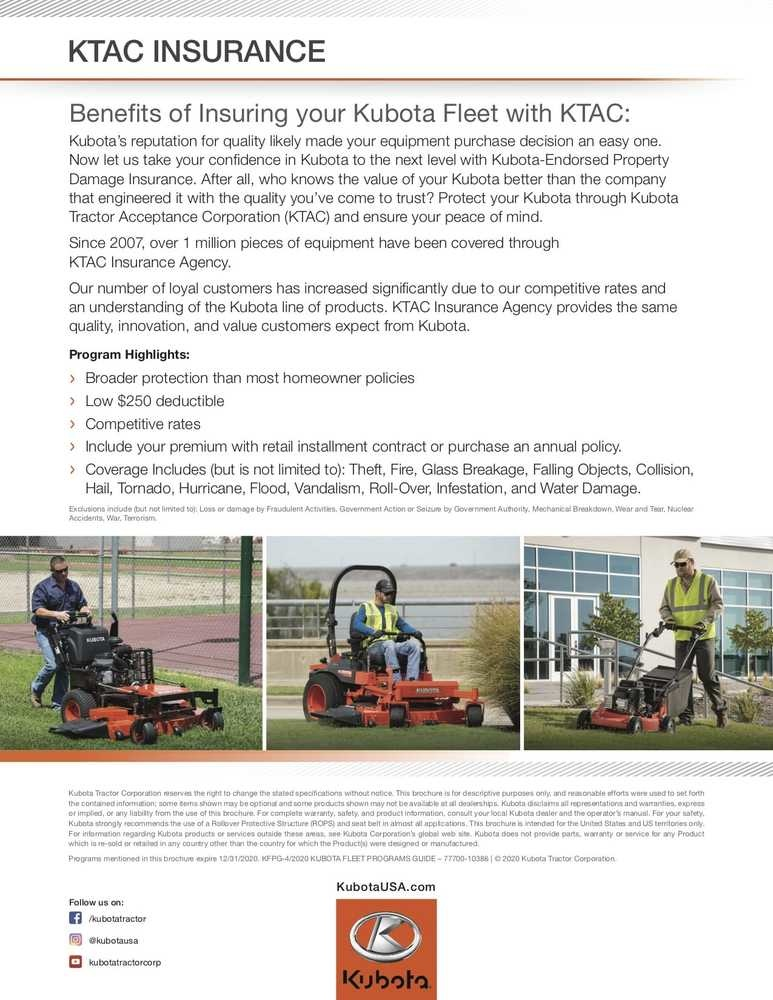 8-2020_Kubota Fleet_Programs Guide_Final